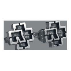 Rammstein Logo Kolczyki - Earpin srebrny. Szare kolczyki damskie Rammstein, srebrne. Za 194,90 zł.