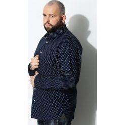 Granatowa Koszula Beginner. Czarne koszule męskie marki Born2be, l, z aplikacjami, z dresówki. Za 69,99 zł.