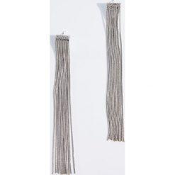 Długie kolczyki z frędzlami - Srebrny - 2
