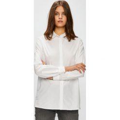 Diesel - Koszula. Szare koszule damskie Diesel, l, z bawełny, casualowe, z włoskim kołnierzykiem, z długim rękawem. W wyprzedaży za 399,90 zł.