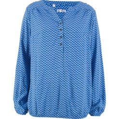 Bluzki, topy, tuniki: Tunika z długim rękawem bonprix lodowy niebieski