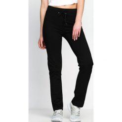 Spodnie dresowe damskie: Czarne Spodnie Dresowe Baggily