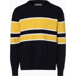 Calvin Klein Jeans - Sweter męski, niebieski. Niebieskie swetry klasyczne męskie marki Calvin Klein Jeans, m, w paski, z dzianiny. Za 449,95 zł.