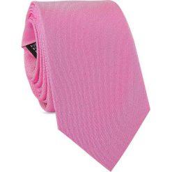 Jedwabny krawat męski KWRR000246. Różowe krawaty męskie marki Reserved. Za 129,00 zł.