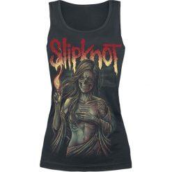 Slipknot Burn Me Away Top damski czarny. Czarne topy damskie Slipknot, l, z nadrukiem, z dekoltem na plecach. Za 54,90 zł.
