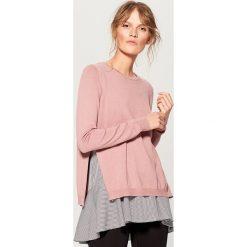 Sweter z bluzką - Różowy. Czerwone swetry klasyczne damskie marki Mohito, m. W wyprzedaży za 79,99 zł.