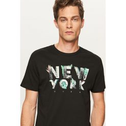 T-shirt New York - Czarny. Białe t-shirty męskie marki Reserved, l. Za 29,99 zł.