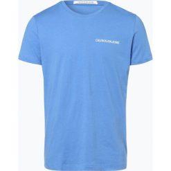 Calvin Klein Jeans - T-shirt męski, niebieski. Niebieskie t-shirty męskie Calvin Klein Jeans, l, z napisami, z jeansu. Za 129,95 zł.