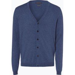 Finshley & Harding - Kardigan męski, niebieski. Czarne swetry rozpinane męskie marki Finshley & Harding, w kratkę. Za 179,95 zł.