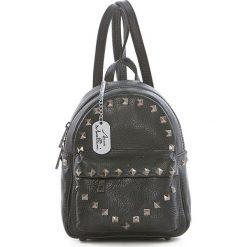 Plecaki damskie: Skórzany plecak w kolorze czarnym – 17 x 22 x 12 cm