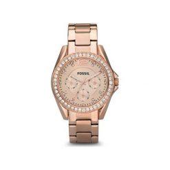 Fossil - Zegarek ES2811. Różowe zegarki damskie marki Fossil, szklane. Za 499,90 zł.