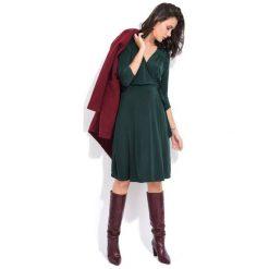 Fille Du Couturier Sukienka Damska Estelle 38 Zielony. Zielone sukienki z falbanami Fille Du Couturier. Za 229,00 zł.