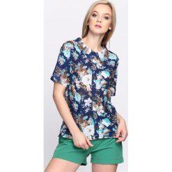 Granatowo-Miętowa Bluzka Thousand Bloom. Niebieskie bluzki na imprezę marki Born2be, s. Za 49,99 zł.