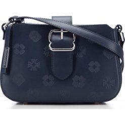 Torebka damska 87-4E-008-7. Niebieskie walizki Wittchen, w paski, z tłoczeniem. Za 445,00 zł.