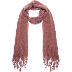 Apaszki damskie: Różowy karbowany szal QUIOSQUE