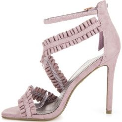 Sandały szpilki z falbanką ADRIANA - 2