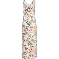 Długie sukienki: Sukienka w kwiatowy deseń bonprix beżowo-zielono-różowy w kwiaty