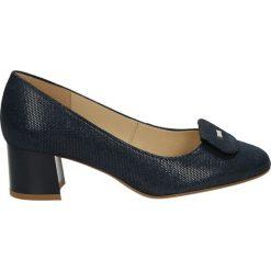 Buty ślubne damskie: Czółenka - F311 PUN BLU