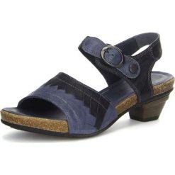 """Sandały damskie: Skórzane sandały """"Jomai"""" w kolorze niebieskim"""
