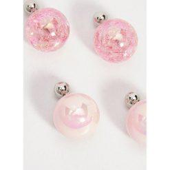 Kolczyki damskie: Kolczyki z eko perłą – Wielobarwn