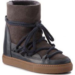 Buty INUIKII - Sneaker Classic 70203-5 D'Grey. Szare buty zimowe damskie Inuikii, ze skóry, na niskim obcasie. Za 1049,00 zł.