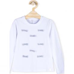 Koszulka. Białe bluzki dziewczęce bawełniane ELEGANT JUNIOR GIRL, z długim rękawem. Za 44,90 zł.