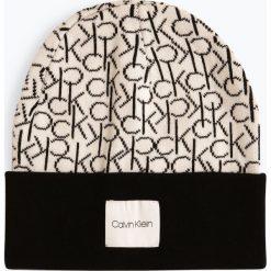 Calvin Klein - Czapka damska, czarny. Czarne czapki damskie Calvin Klein, z bawełny. Za 179,95 zł.