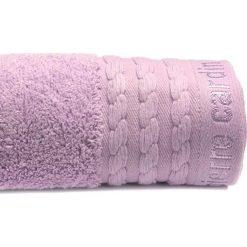 Kąpielówki męskie: Ręcznik w kolorze jasnofioletowym