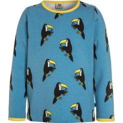 Bluzki dziewczęce bawełniane: Småfolk WITH TOUCAN Bluzka z długim rękawem cendre blue