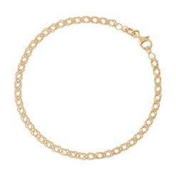 Piękna Złota Bransoletka - złoto żółte 375. Żółte bransoletki damskie na nogę W.KRUK, złote. Za 599,00 zł.