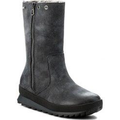 Kozaki CAPRICE - 9-26411-29 Ocean Nubuc 869. Niebieskie buty zimowe damskie marki Caprice, z nubiku, na obcasie. W wyprzedaży za 259,00 zł.