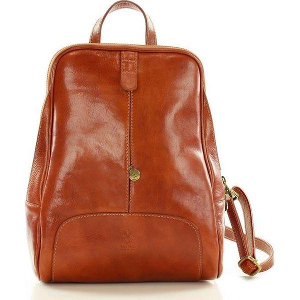 a76cb07c28b17 DARELLE Skórzany plecak MAZZINI camel - Brązowe plecaki damskie ...