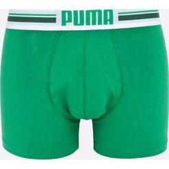 Puma - Bokserki Puma Placed logo boxer 2p green (2-pack). Zielone bokserki męskie Puma, z bawełny. W wyprzedaży za 49,90 zł.