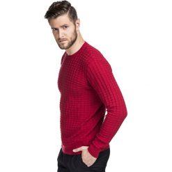 Sweter FABIANO SWTR000189. Czerwone swetry klasyczne męskie marki Giacomo Conti, na zimę, m, w kolorowe wzory, z bawełny. Za 189,00 zł.