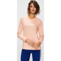 Adidas Performance - Bluza. Szare bluzy rozpinane damskie adidas Performance, m, z aplikacjami, z bawełny, bez kaptura. W wyprzedaży za 139,90 zł.