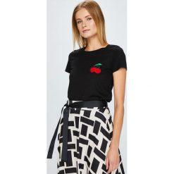 Answear - Top. Szare topy damskie marki ANSWEAR, l, z bawełny, z okrągłym kołnierzem. W wyprzedaży za 49,90 zł.
