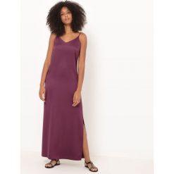 Długie sukienki: Długa sukienka, cienkie ramiączka