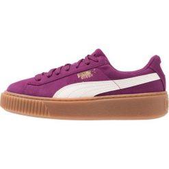 Puma SUEDE PLATFORM SNK JR Tenisówki i Trampki dark purple/marshmallow. Fioletowe trampki chłopięce marki Puma, z materiału. W wyprzedaży za 169,95 zł.