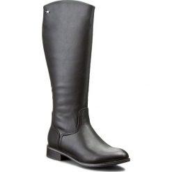 Oficerki JENNY FAIRY - W15AW240-6 Czarny. Czarne buty zimowe damskie Jenny Fairy, z polaru, na obcasie. Za 139,99 zł.