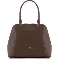 Torebka damska 83-4E-381-9. Brązowe torebki klasyczne damskie Wittchen, w paski. Za 359,00 zł.
