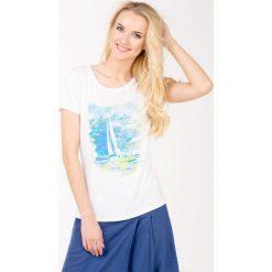 Bluzki, topy, tuniki: T-shirt z łódką