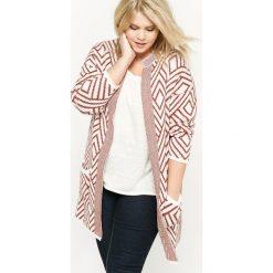 Swetry damskie: Żakardowy długo sweter