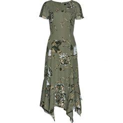 Sukienki: Sukienka w kwiaty bonprix oliwkowy z nadrukiem