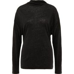 Iro WEATHER Bluzka z długim rękawem black. Czarne bluzki asymetryczne Iro, l, ze lnu, z długim rękawem. Za 609,00 zł.