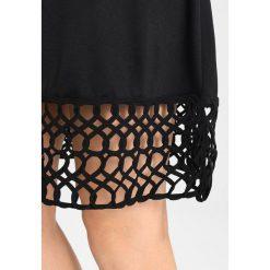 Sukienki hiszpanki: YAS YASCROCHET DRESS Sukienka z dżerseju black