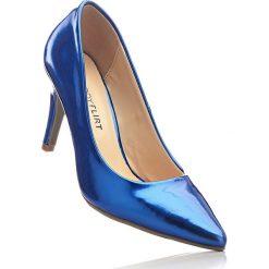 Czółenka bonprix niebieski metaliczny. Niebieskie buty ślubne damskie bonprix, na szpilce. Za 89,99 zł.