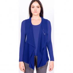 """Kamizelka """"Charlene"""" w kolorze niebieskim. Niebieskie kamizelki damskie marki Ateliers de la Maille, z kaszmiru. W wyprzedaży za 409,95 zł."""