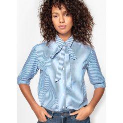Koszule damskie: Koszula w paski, kołnierzyk polo