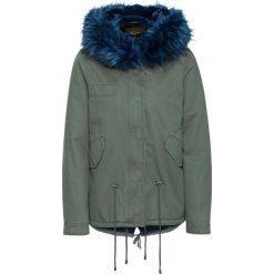 Kurtka parka bonprix oliwkowo-niebieski. Zielone kurtki damskie bonprix, na zimę. Za 129,99 zł.