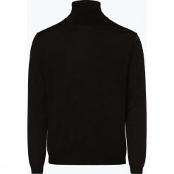 Finshley & Harding - Sweter męski, czarny. Czarne swetry klasyczne męskie marki Finshley & Harding, w kratkę. Za 129,95 zł.